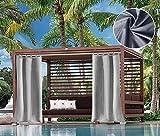 DOMDIL Outdoorvorhang Geriebene Vorhänge mit Schlaufen Gartenbalkone Balkonvorhänge Verdunkelungsvorhänge Wasserdichter Mehltau beständig für Pavillon Beach House, 1 Stück, 132x305cm,...