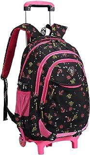 Bolsa de escuela mochila de escuela ruedas chica niña nailón impermeable desmontable para alumnas la escuela