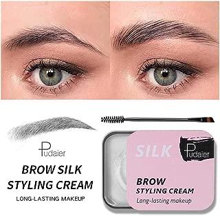 Balakie Soap Brow Styling Kit, 3D Eyebrow Setting Gel with Eyebrow Brush Long Lasting Waterproof Eyebrow Styling Cream Cosmetics (14g)