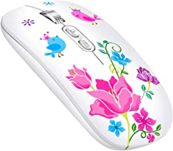 Uciefy U9 Wireless Mouse, Silent Rechargeable Mouse Slim Travel Mice with Type C Receiver for Girls/Kids/Women, Compatible...