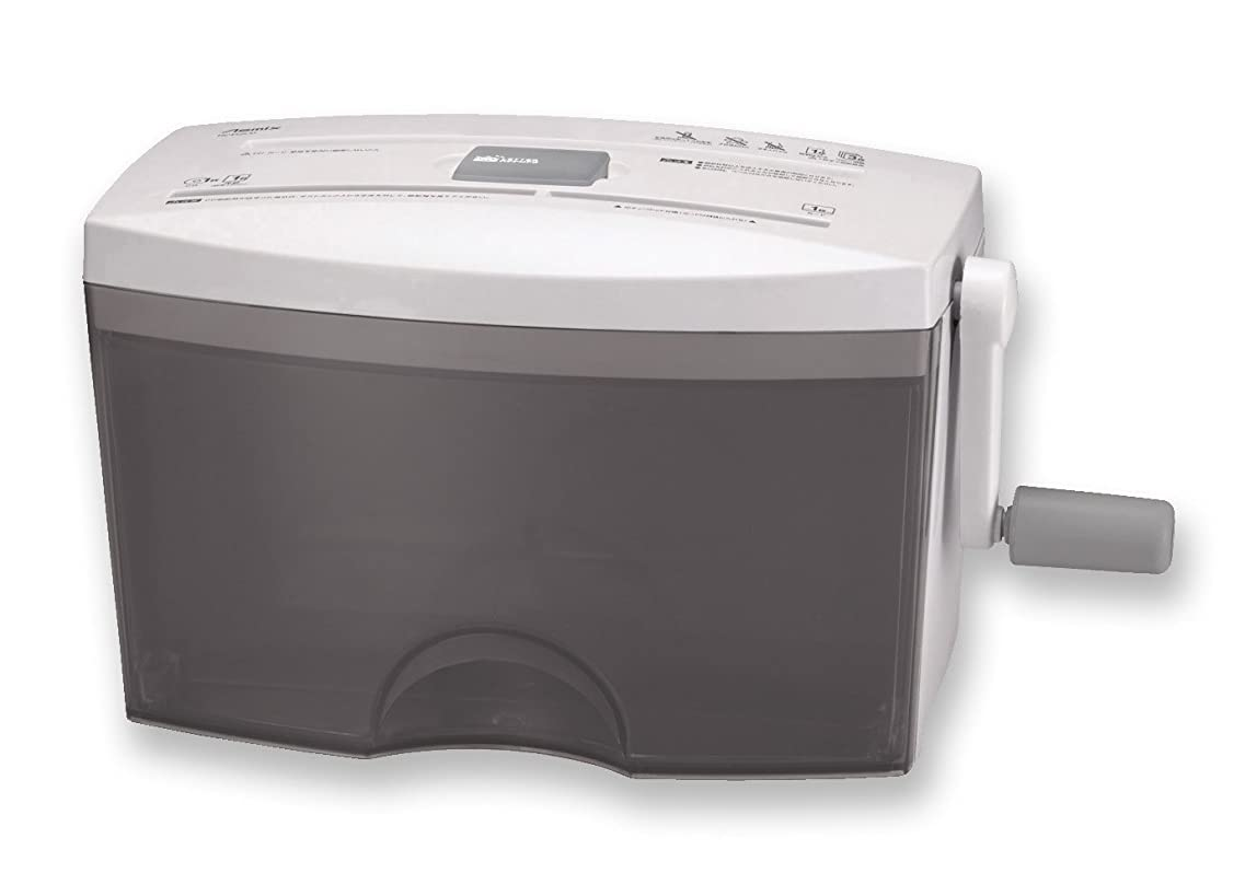 アレルギー性誠実報酬アスカ asmix ハンドクロスカットシュレッダー HC453CD メディア対応 3枚同時細断
