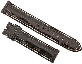 Accessories 19Aat22c Unisex Strap 19Mm Shiny Dark Brown Alligator Watch