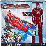 Hasbro - Avengers Iron Man 30 cm più veicolo...