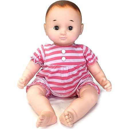 はっぴーわん 赤ちゃん 人形 ベビー のんちゃん 約46cm ピンク 横にすると目が閉じる ぱちぱちタイプ