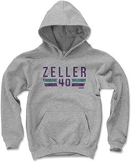 500 LEVEL Cody Zeller Charlotte Basketball Kids Hoodie - Cody Zeller Charlotte Font