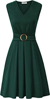 cl8947-12 Stile Vintage Rockabilly Pin up Anni 50 Mancheron Destra Bleu Clair M GRACE KARIN Vestito da Donna Aderente
