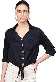 Mitaha Tops Western top for Women, Crop Tops for Women Design, Shirt for Women Good Design (Blue) for Casual Women Top/Gir...