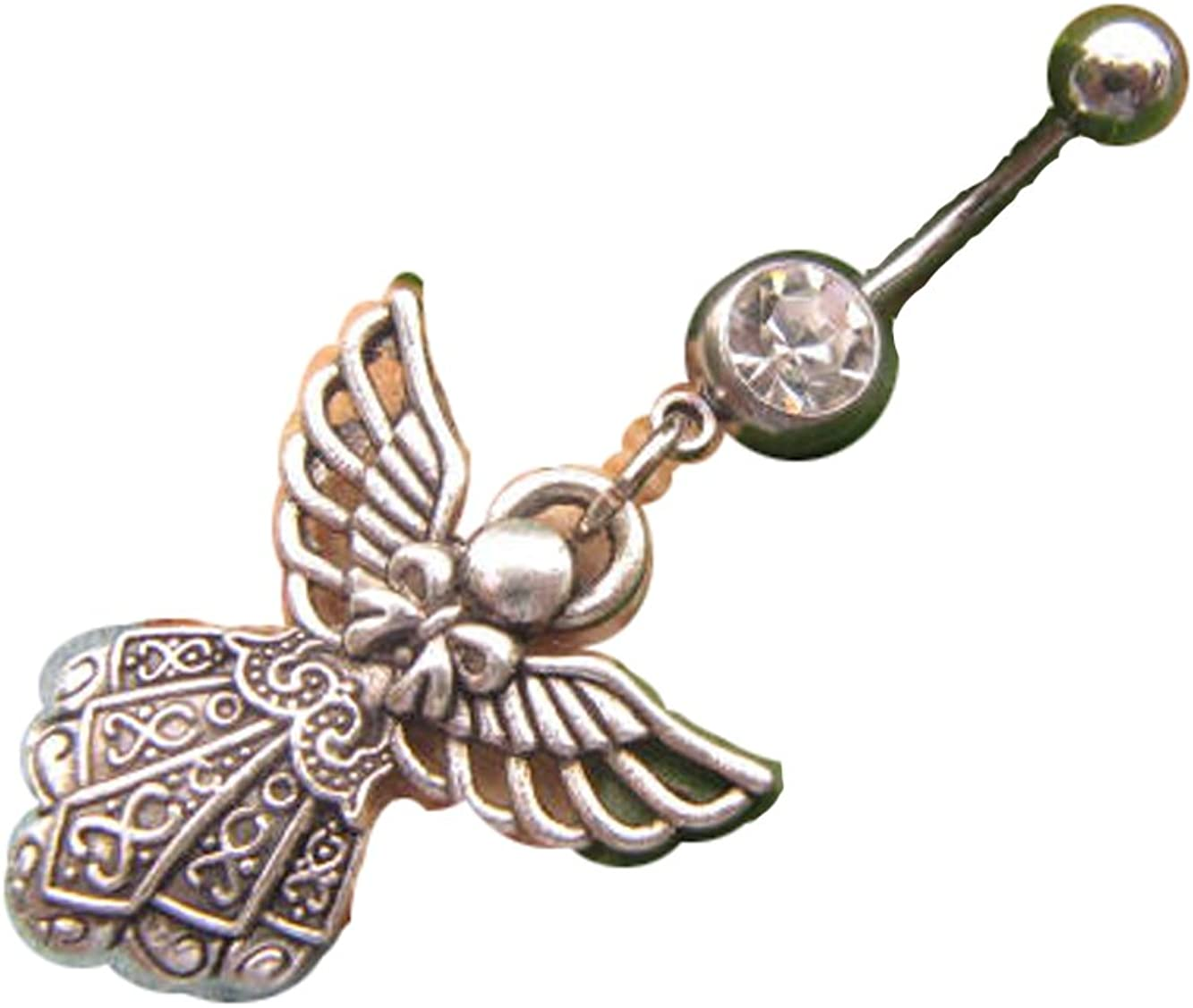 2Pcs Angel Belly Button Ring, Angel, Belly Button Ring