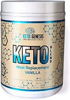 Ketogenesis Nutraceuticals Keto Blend Shake Meal Replacement - Vanilla | 20 Servings
