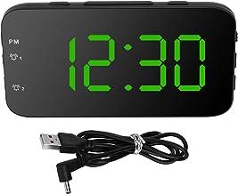 Led Väckarklocka, Digital Väckarklocka Bärbar Skrivbordsklocka med Snooze för Sovrum Hemresor(grön)