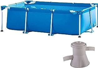 AEU Piscina Metal Frame Piscina Tubular Piscina Infantil Piscina Desmontable Splash Frame Pool 260 X 160 X 65 Cm Piscina Rectangular PVC Piscinas De Jardín con Bomba De Filtrado