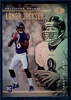 2018 Panini Illusions #25 Lamar Jackson/Trent Dilfer NM-MT Baltimore Ravens Football