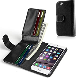 TNP iPhone 6s Plus Wallet Case - Synthetic Leather Wallet Case Flip Cover with Credit ID Card Slots and Money Pocket for Apple iPhone 6s Plus and iPhone 6 Plus 5.5
