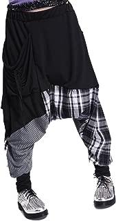 ellazhu Women Casual Loose Baggy Elastic Waist Harem Joggers Pants OneSize GY206 Black