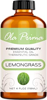 4oz - Premium Quality Lemongrass Essential Oil (4 Ounce Bottle) Therapeutic Grade Lemongrass Oil