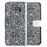 Étui Compatible avec Samsung Galaxy S6 Edge Étui Folio Étui magnétique Zèbre Motifs Dessin