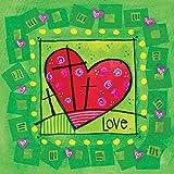 Paquete de 5 tarjetas de Pascua – Corazón de Pascua, con 1 John 3:1 (NKJV) verso en el interior, por Just Cards Direct