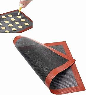 Voarge Tapis de four en silicone, avec feuille de four, micro-perforée, antidérapant, pour four réutilisable, antiadhésif,...