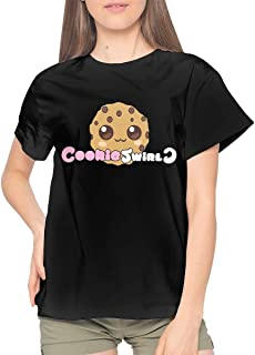 JosephHenkle Womens Short-Sleeve T-Shirts Womans Tee Crewneck Black Tops