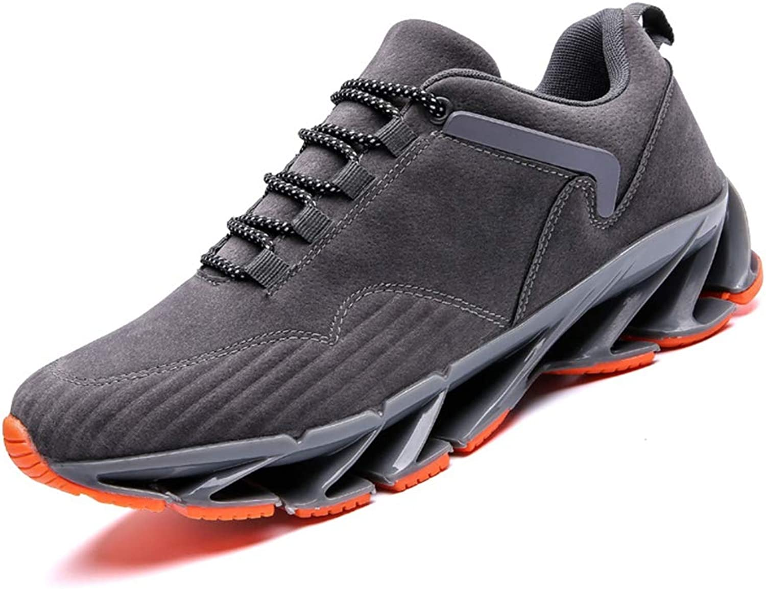 Mens Non-Slip Trainers Spring Casual shoes Suede Leather Sneakers Breathable Sports Running shoes
