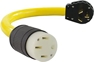 Conntek EV1050T NEMA 10-50P to NEMA 14-50R (Tesla Style) Adapter Cord compatible with Tesla Vehicles