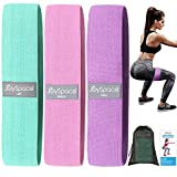JOYSPACE Fitnessbänder Set Widerstandsbänder Krafttraining Resistance Hip Bands Sportbänder with 3 Resistance Levels for Buttocks and Legs Trainingsband Terabänder für Beintraining Klimmzüge