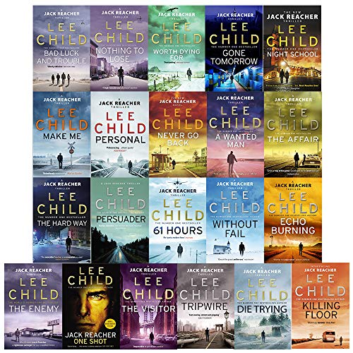Lee Child Jack Reacher 17 Books Collection Pack Set RRP: 135.83 [Paperback] ...
