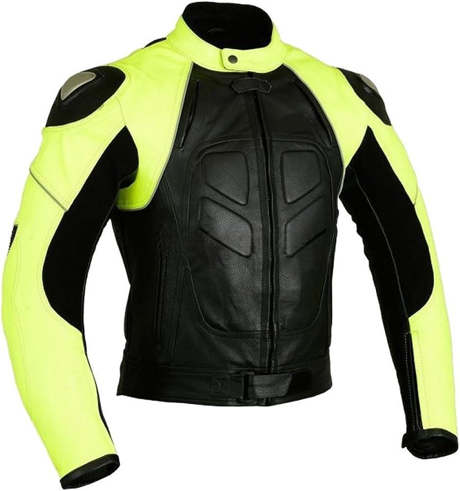 Classyak Men's Custom Made Black n Yellow Motorbike Jacket