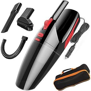 Mioke aspirador de Mano,Coche Limpiadora filtro HEPA,Seco / Húmedo 5000PA,120W 12V,Tecnología Ciclónica LED luz sin ruido con BOLSA (negro, con cable): Amazon.es: Hogar