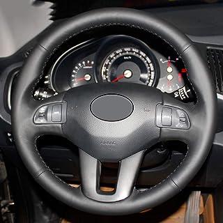 KDKDKLMB Cubierta del Volante Cubierta del Volante de Cuero Negro, para Kia Sportage Sportage 3