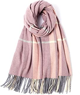Autumn Winter Plaid Scarf Print Scarf Female Warm Shawl 205cm*65cm,Perfect Accent to Any Outfit (Color : 08, Size : 205cm*65cm)