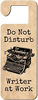 Mr kennys& Lucky 7 Do Not Disturb Writer at Work Durable Wooden Door Knob Hanger Sign for Home,Hotel,Office, Clinic, Therapy