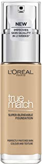L'Oréal Paris Make up, liquid foundation with hyaluronic and aloe vera, perfect match make-up, no. 3.N creamy beige, 30 ml