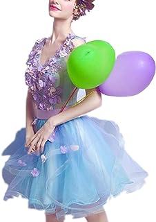 Baby Blue Bohemian appliqué dos ouvert Tulle Tutu Fleur Fille Occasion Robe