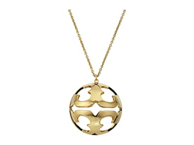 Tory Burch Bubble Miller Pendant Necklace (Tory Gold) Necklace