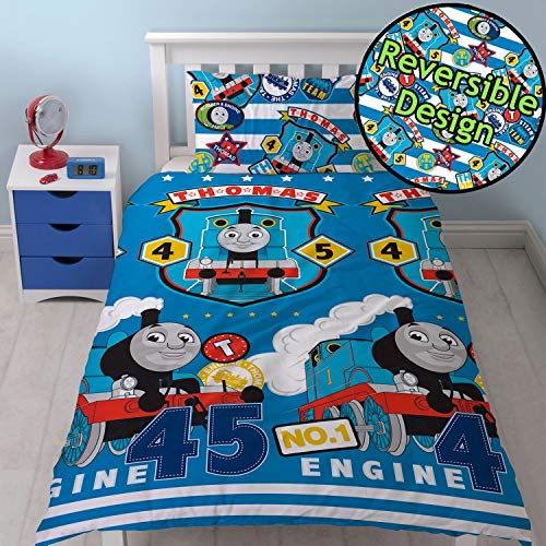 Kids Childrens Thomas Tank Engine Single Quilt Duvet cover set Train Cartoon Fun