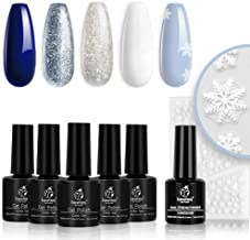 Best blue and white gel nails Reviews