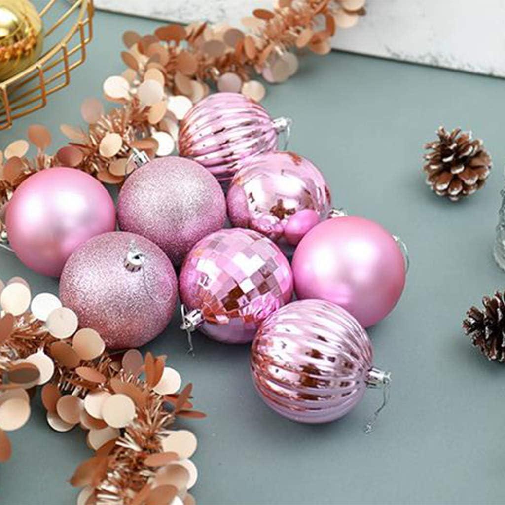 JERKKY Adornos de Navidad 34 Piezas Adornos de Bolas de Navidad Bolas de /árbol de Navidad inastillables para Vacaciones Decoraci/ón de Banquetes de Boda Adornos de /árboles Plata