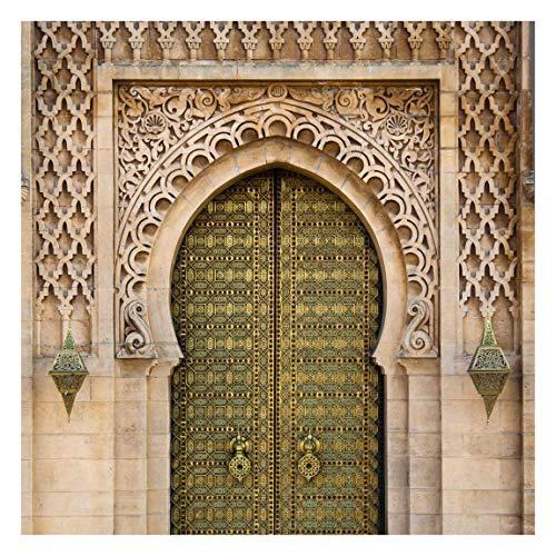 Apalis Vliestapete Oriental Gate Fototapete Quadrat | Vlies Tapete Wandtapete Wandbild Foto 3D Fototapete für Schlafzimmer Wohnzimmer Küche | Größe: 240x240 cm, beige, 95427