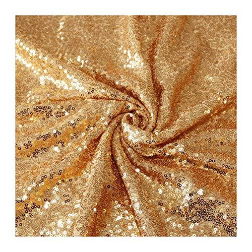 MUZIWENJU 1 Glänzende Gold Pailletten Tischläufer for Hochzeitsfeier Weihnachten Tuch Dekoration (Farbe : Champagne, Größe : 30cmX220cm)