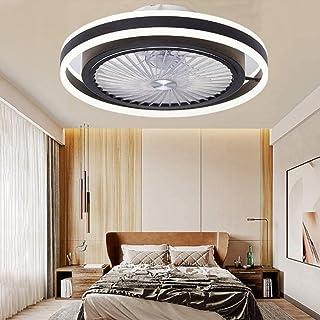 Ventilateur Silencieux Avec Éclairage LED 48W Plafonnier Avec Plafonnier Suspension Dimmable Télécommande Peut Timing Mode...