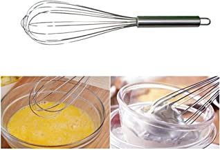 Buwico 12 Inch Ballon Whisk Stainless Steel Multifunctional Whisk Metal Wire Egg Beater for Cooking, Blending, Stirring