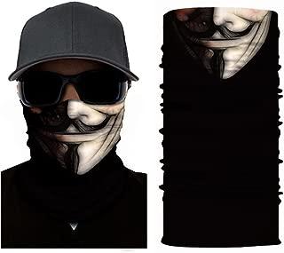 xxiii - Face Mask Shield Protective Balaclava Bandana Microfiber Tube Neck Warmer Multi Use All Purpose Snowboard Ski Air Soft Photography Props