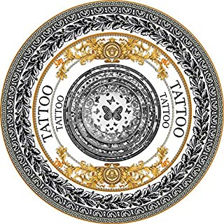 Round Meditation Mat/Vintage Pattern Circular Carpet/Round Yoga Mat/Meditation Mat/Fitness Exercise Mat, Non-Slip Portable...