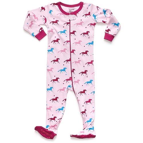 Leveret Baby Girls Footed Pajamas Sleeper 100% Cotton Kids   Toddler Pjs  Sleepwear (6 41eb18529