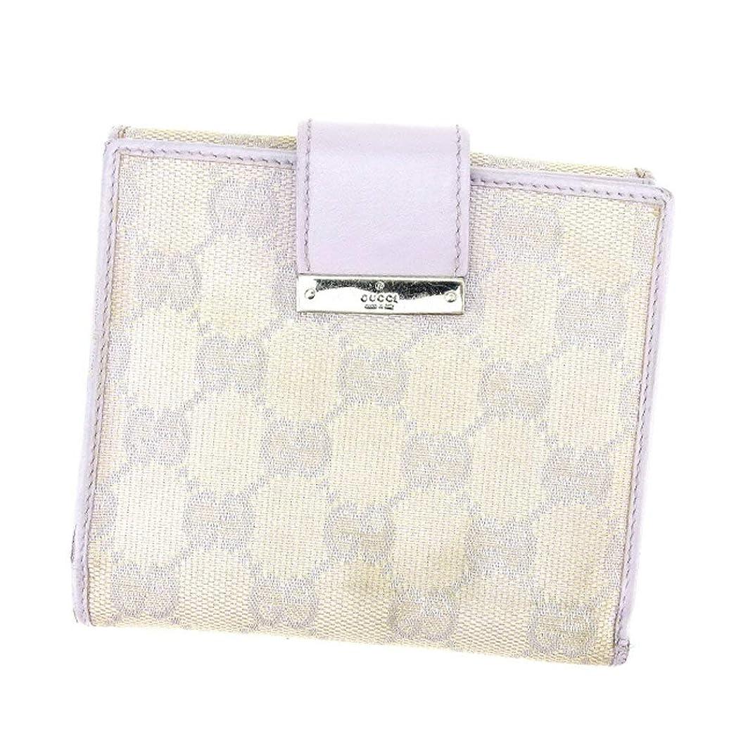 殉教者半径恐怖症(グッチ) Gucci Wホック財布 二つ折り 財布 GG柄 レディース 中古 E1305