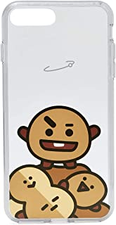 BT21 Official Merchandise by Line Friends - SHOOKY Character Clear Case for iPhone 8 Plus/iPhone 7+, Brown