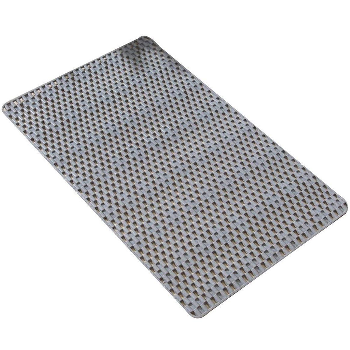 振る舞い男らしさはしごGYYARSX 浴室足ふきマット風呂ホーム多機能マッサージ顆粒吸盤肌にやさしいPVC、4色、3サイズ (Color : Gray, Size : 78X46CM)