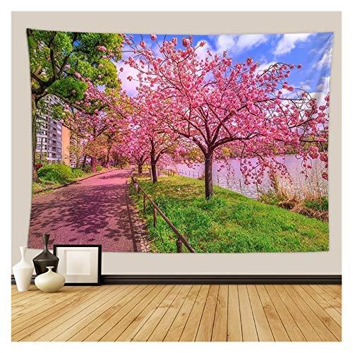 Nostalgie Tapiz Pared Cherry Blossoms Fantasy Tapices Tapicura Hippie Dormitorio Decoración Psicodélico Tapicería Macrame Mandala Tapicería Colgar en la Pared (Color : 14, tamaño : 730MMx950MM)