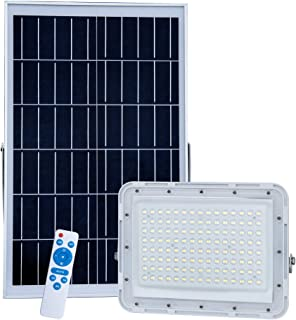 300W LED Solar Flood Lights,20000Lumens Street Flood Light Outdoor IP67 Waterproof with Remote Control Security Lighting for Yard, Garden, Gutter, Swimming Pool, Pathway, Basketball Court, Arena